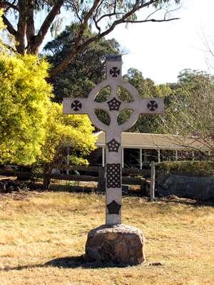 Celtic Cross at Rochford Organic Garlic