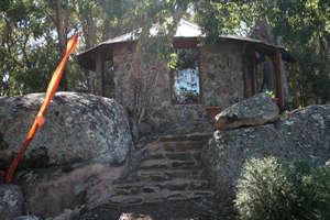Meditation Hut at Rochford Organic Garlic